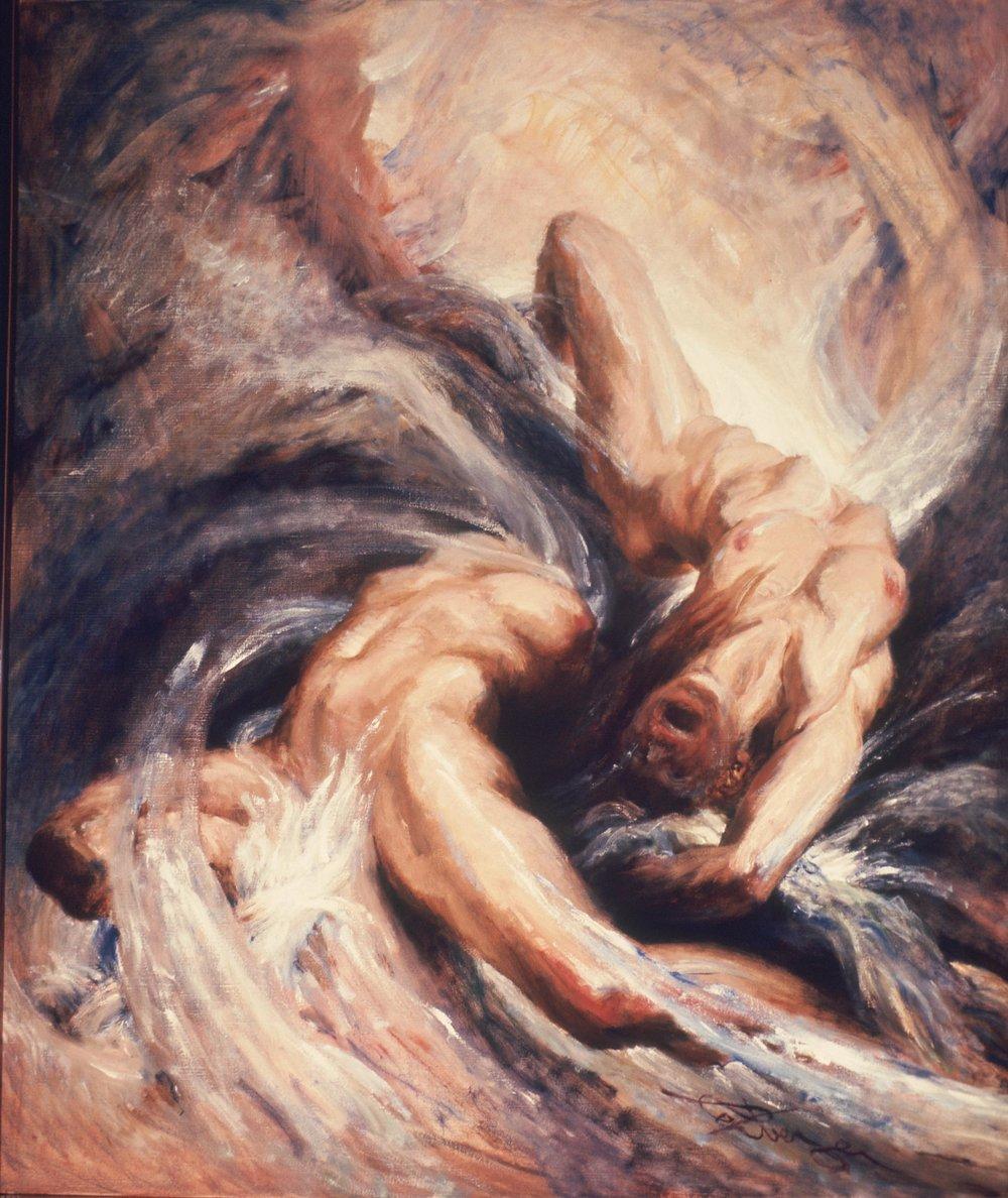 """""""Perpetuum - Leonore"""" (Oil, 57 x 48 in.)"""
