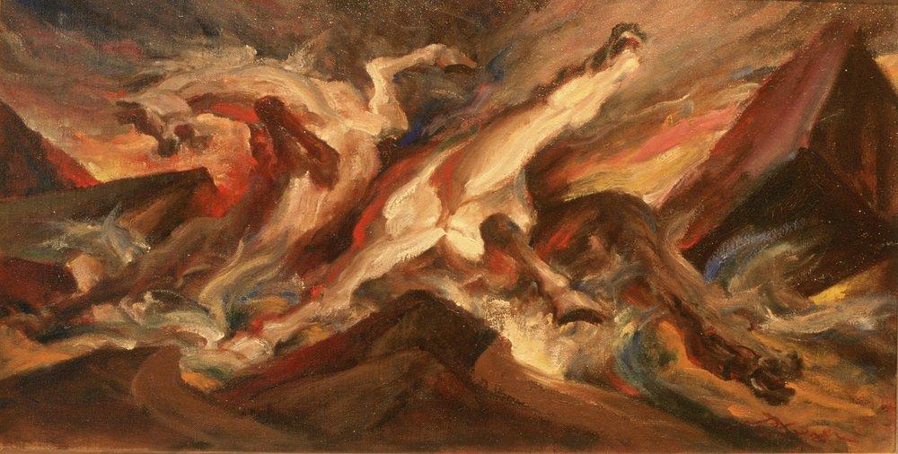 (Oil, 26 x 42 in.)