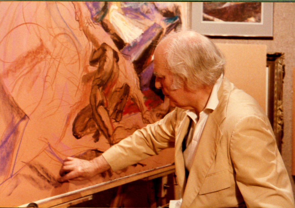 1983 #2c Pastel Society of America, National Arts Club ( Man & Horse).JPG