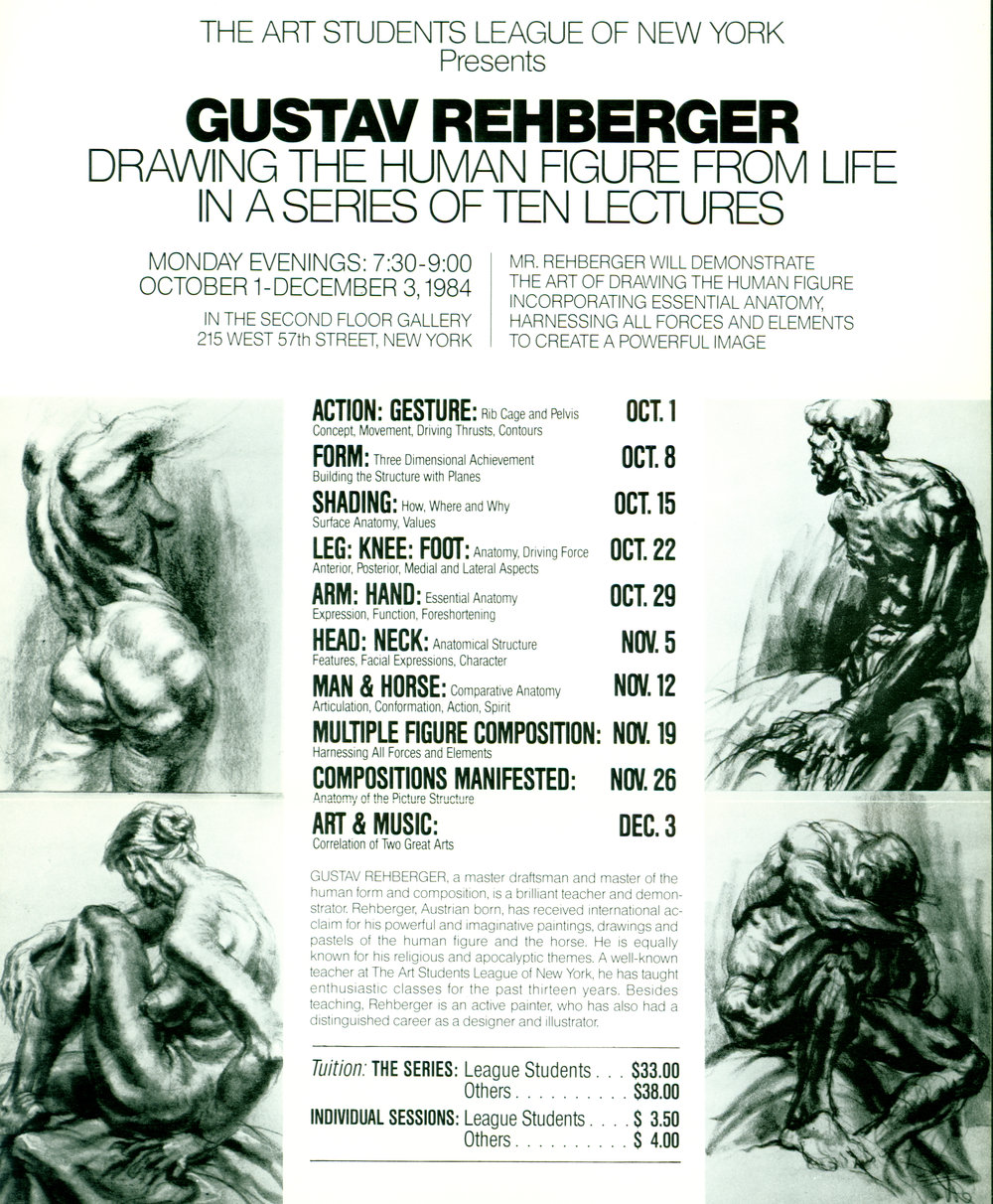 1984 Art Students League of NY  - Lecture Brochure.JPG