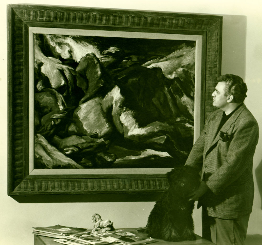 """The Deluge"" (Audubon Artists Most Creative Painting Award for Oil in 1948)"