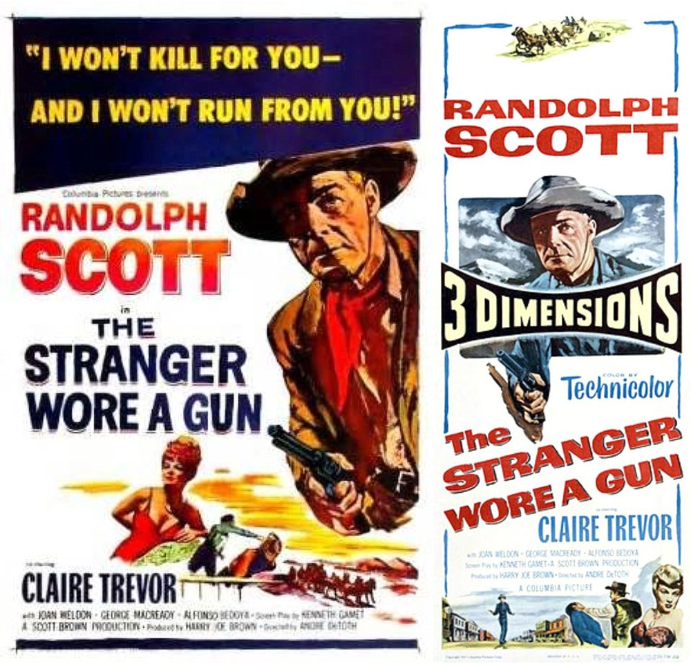 """The Stranger Wore a Gun"" starring Randolph Scott (Columbia Pictures)"