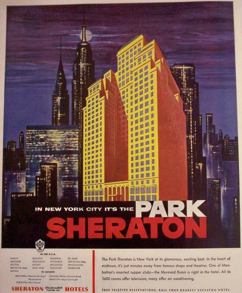 1954 - The Park Sheraton in New York
