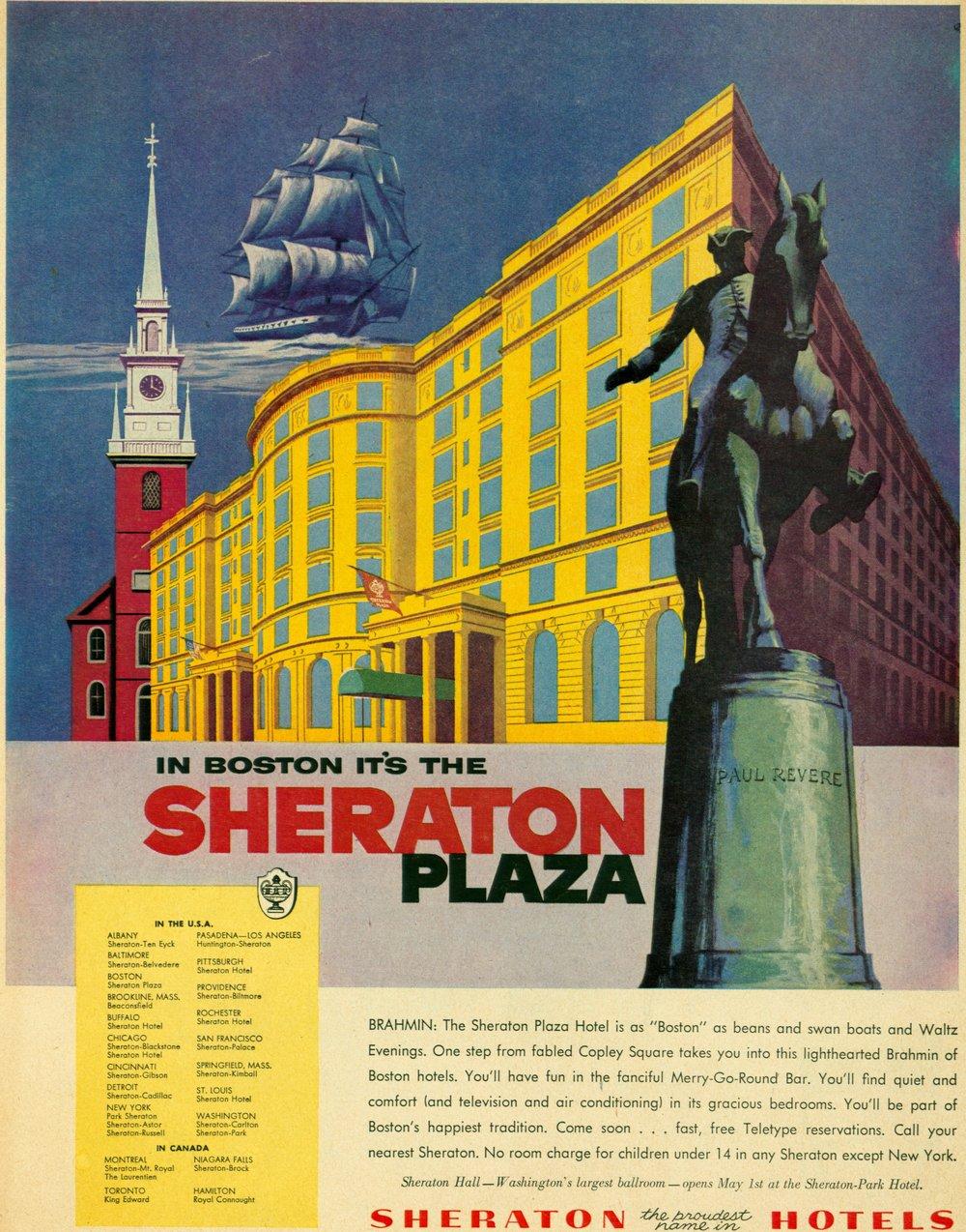 1956 - The Sheraton Plaza in Boston