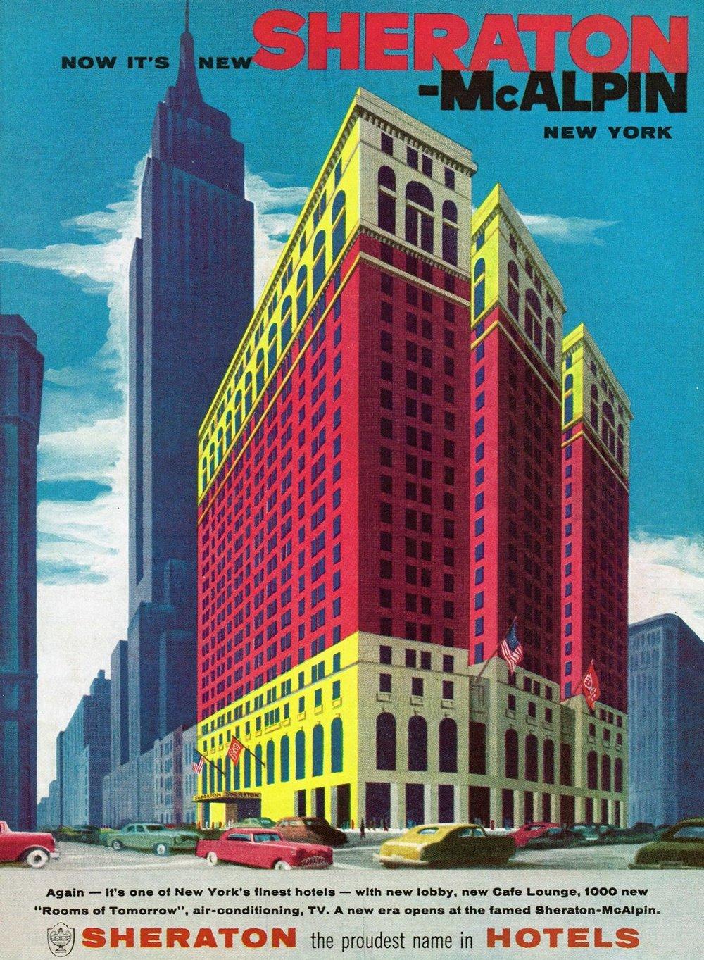 1957 -  The Sheraton-McAlpin in New York