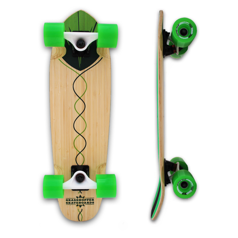 Grasshopper-Skateboard-Shortboard-Mini-cruiser-street-Complete-bamboo-hemp-Green-pintail-3.jpg