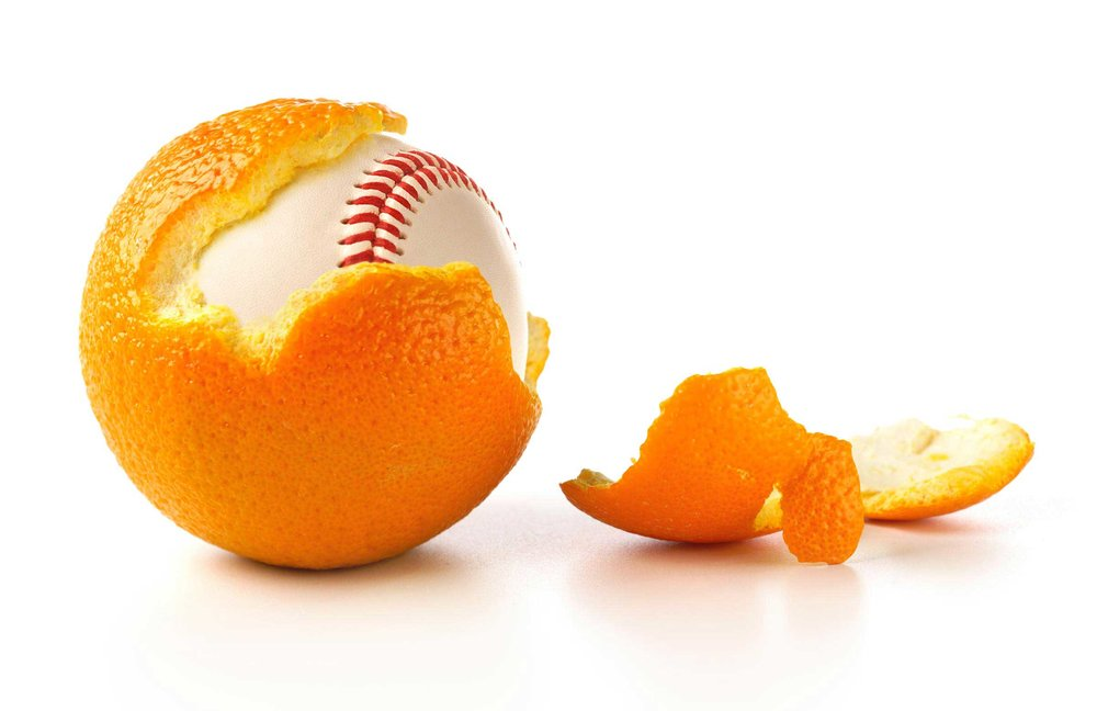 """There's a baseball in my orange!"""