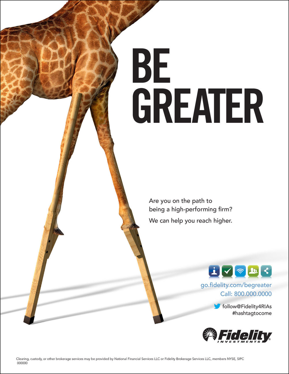 Giraffe on 3-D stilts