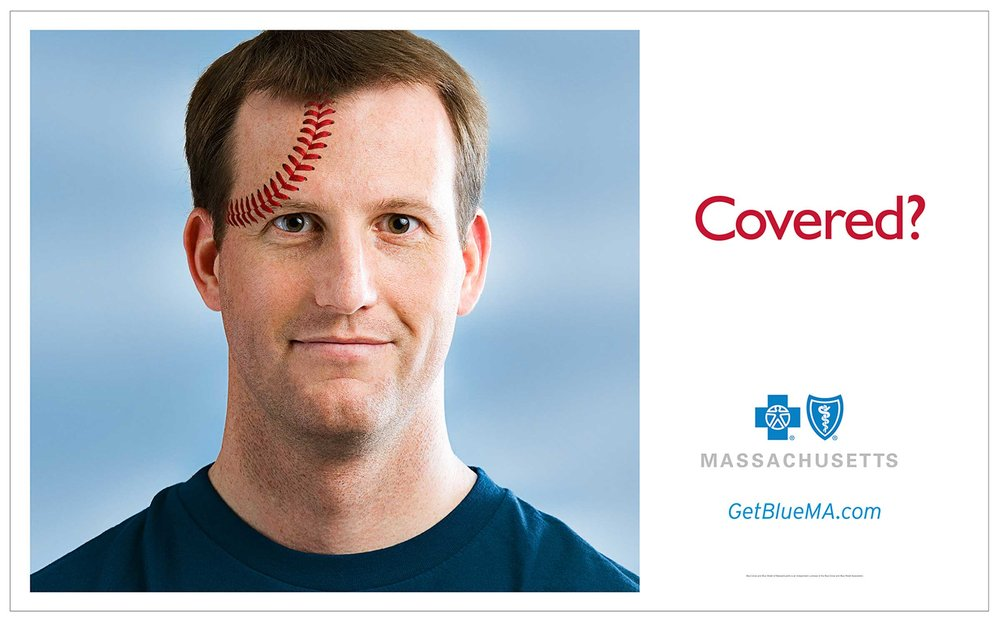 Blue Cross/Blue Shield MA • baseball-head
