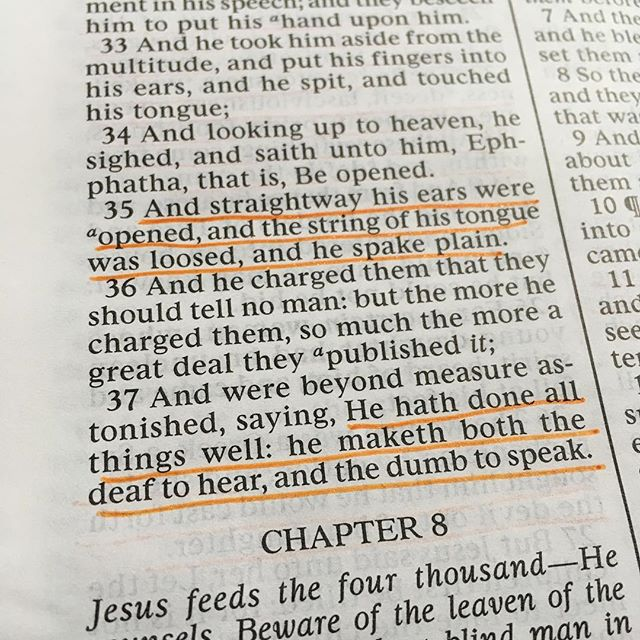 Mark 7: 35 & 37 Step 2