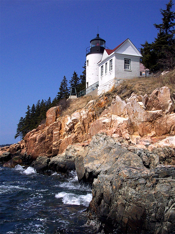Bass Harbor Head Lighthouse on Mt. Desert Island, Maine
