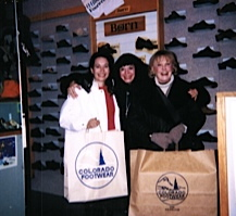 Nikki Mother Darlene and June Alyson shopping at Colorado Footwear in Vail CO.jpg