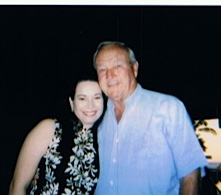 Nikki and Arnold Palmer, 1995 Senior Skins Game at Mauna Lani, Hawaii