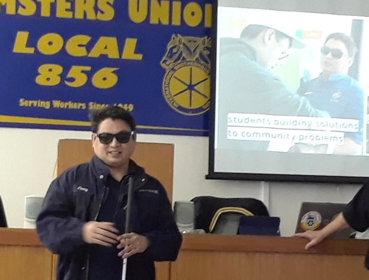 SFOPV Technician Jimmy Uharriet attends the February Craft Meeting