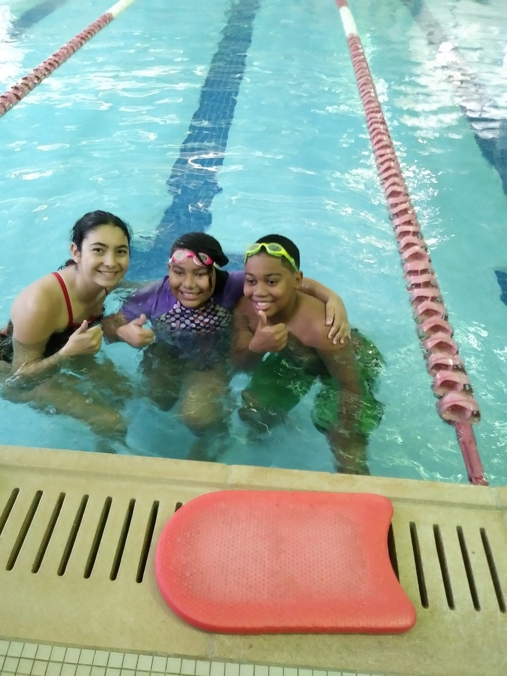 Emily and 2 of her students at Princeton Fitness & Wellness Center