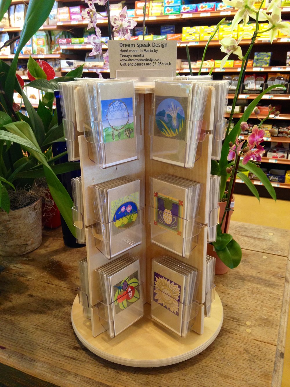 Cards @ Good Earth Natural Foods in Fairfax, CA