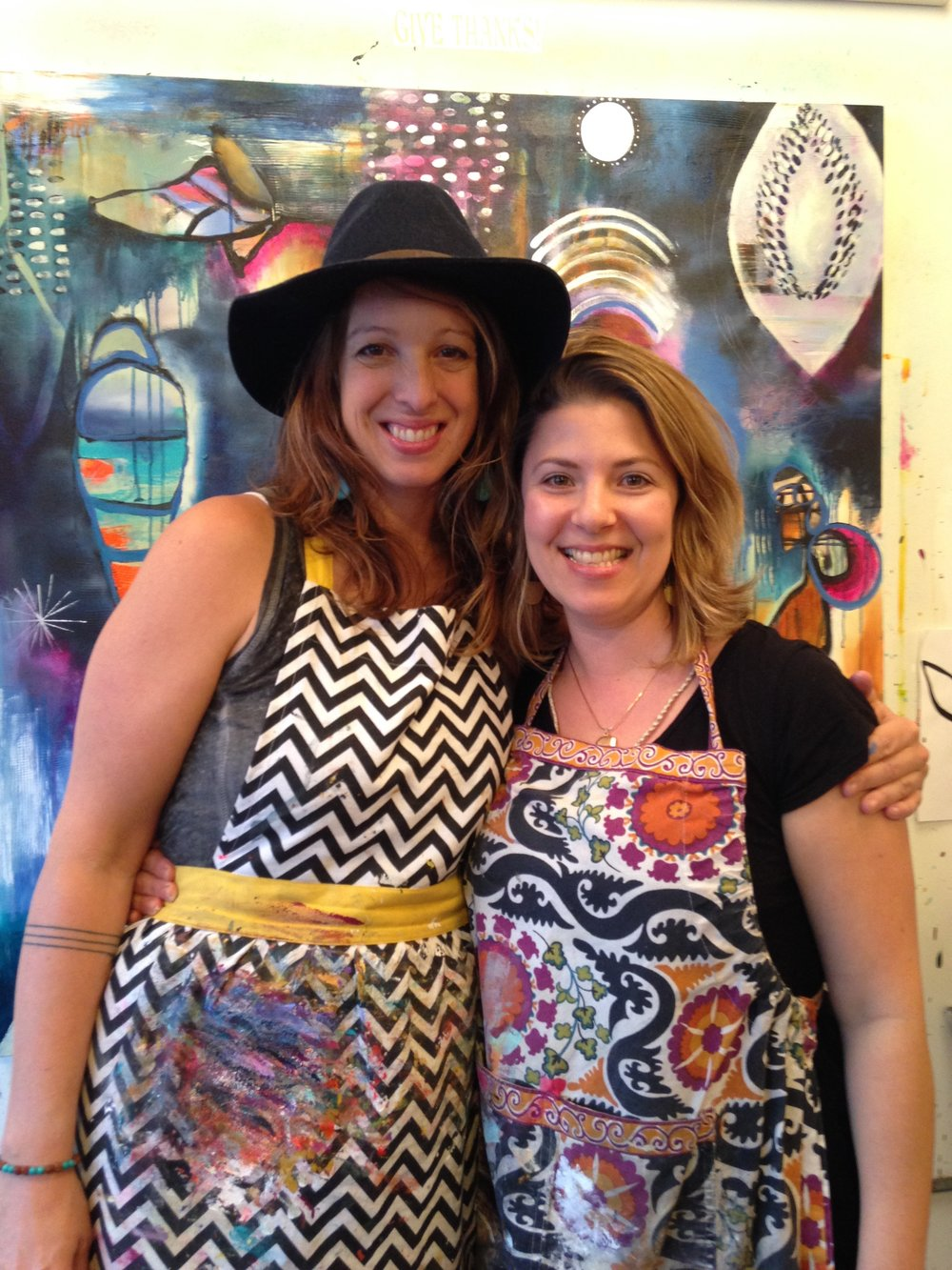 Flora and I at her Bloom True painting workshop in Portland, OR