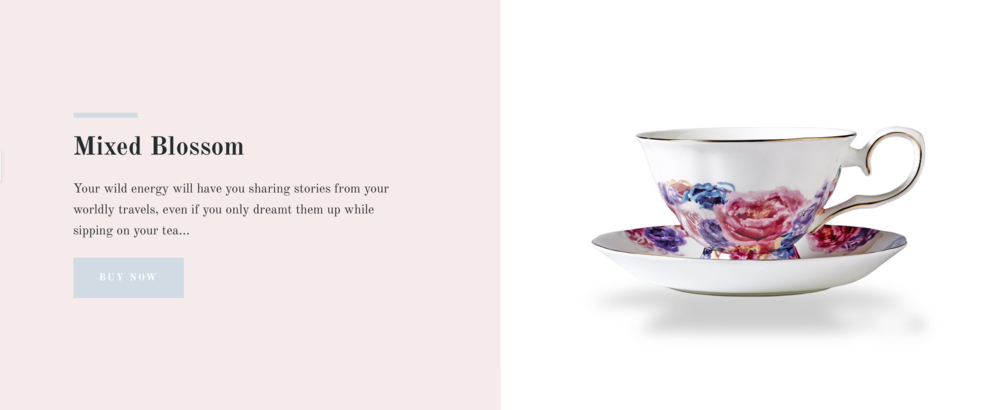 Amity Created Product Mixed Blossom Website Mock up