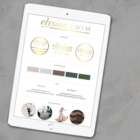 Elysian Swim Ipad Brand Board Mockup