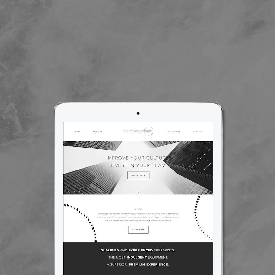 The Massage Spot iPad Mockup 2