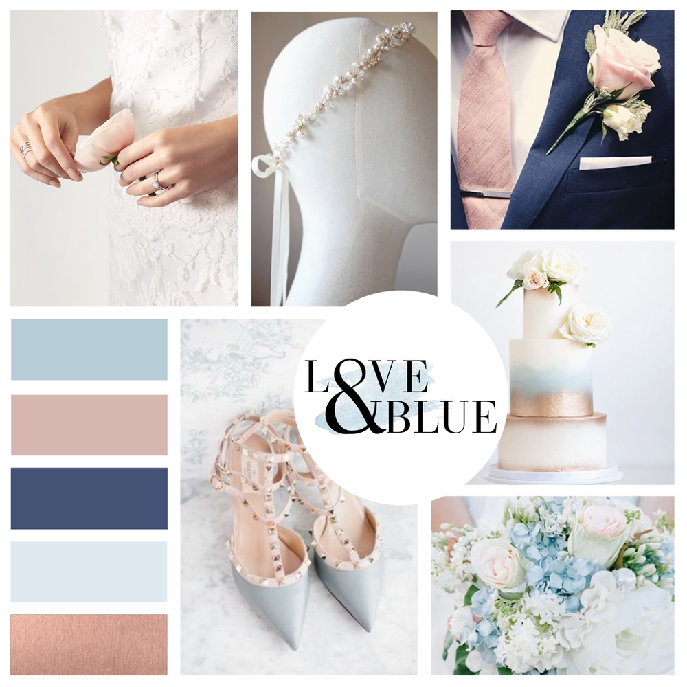 Love & Blue Bridal Mood - Kira Hyde Creative Client Work
