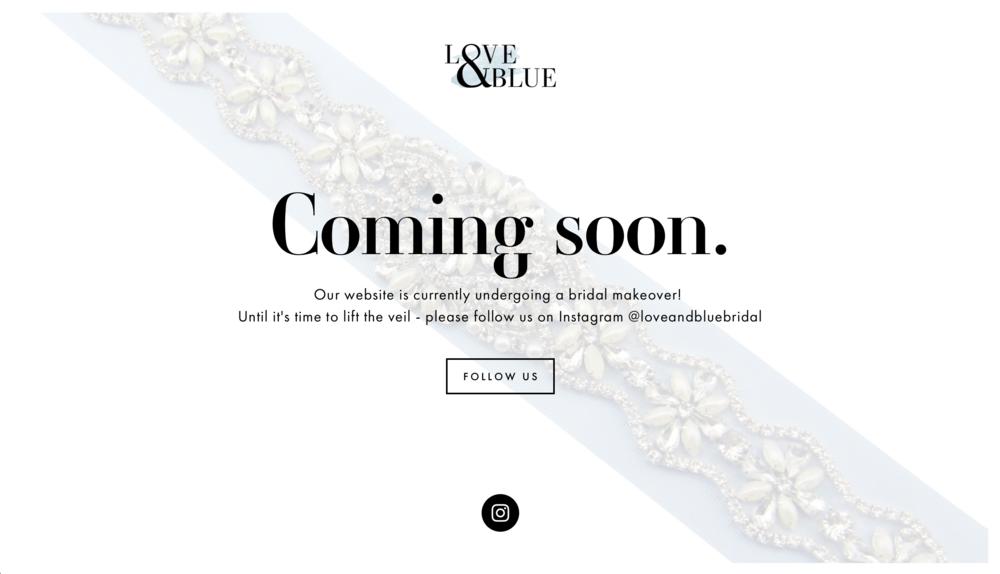 Love & Blue Bridal - Kira Hyde Creative Client Work