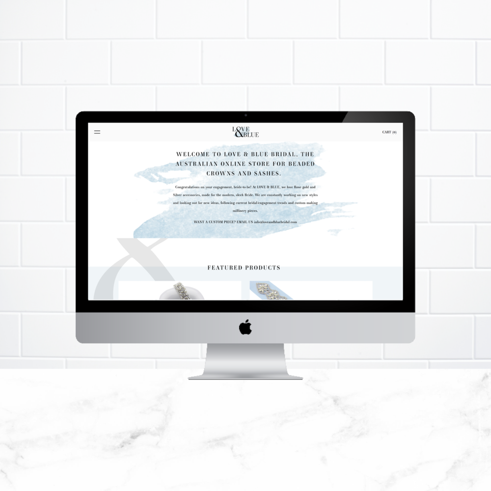 Love & Blue Bridal - Client Work