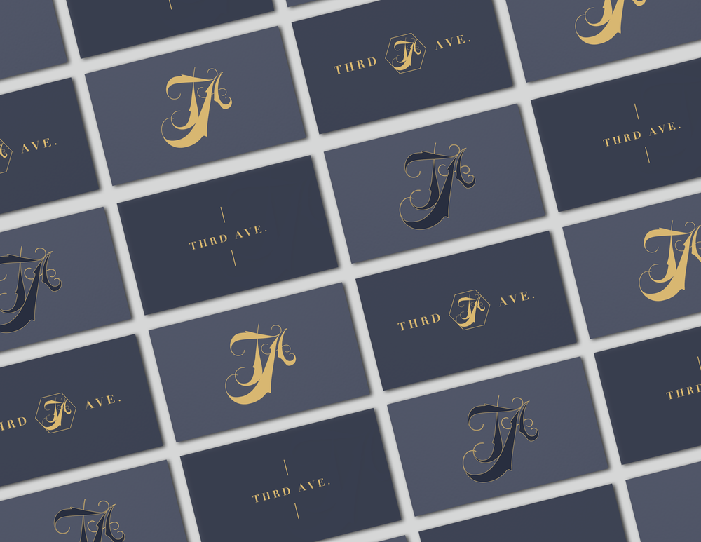 Third Ave. Business Card Mockups - Kira Hyde Creative