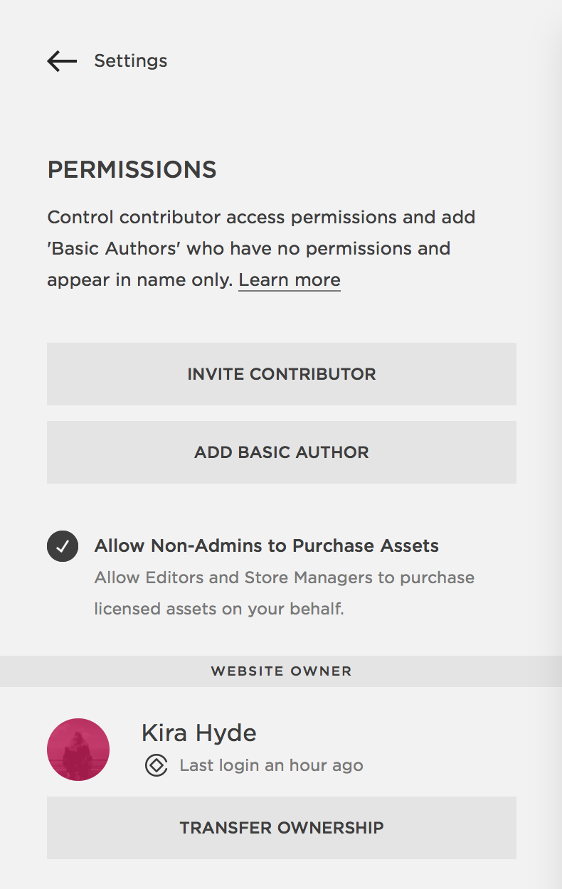 How To Invite a Site Contributor in Squarespace