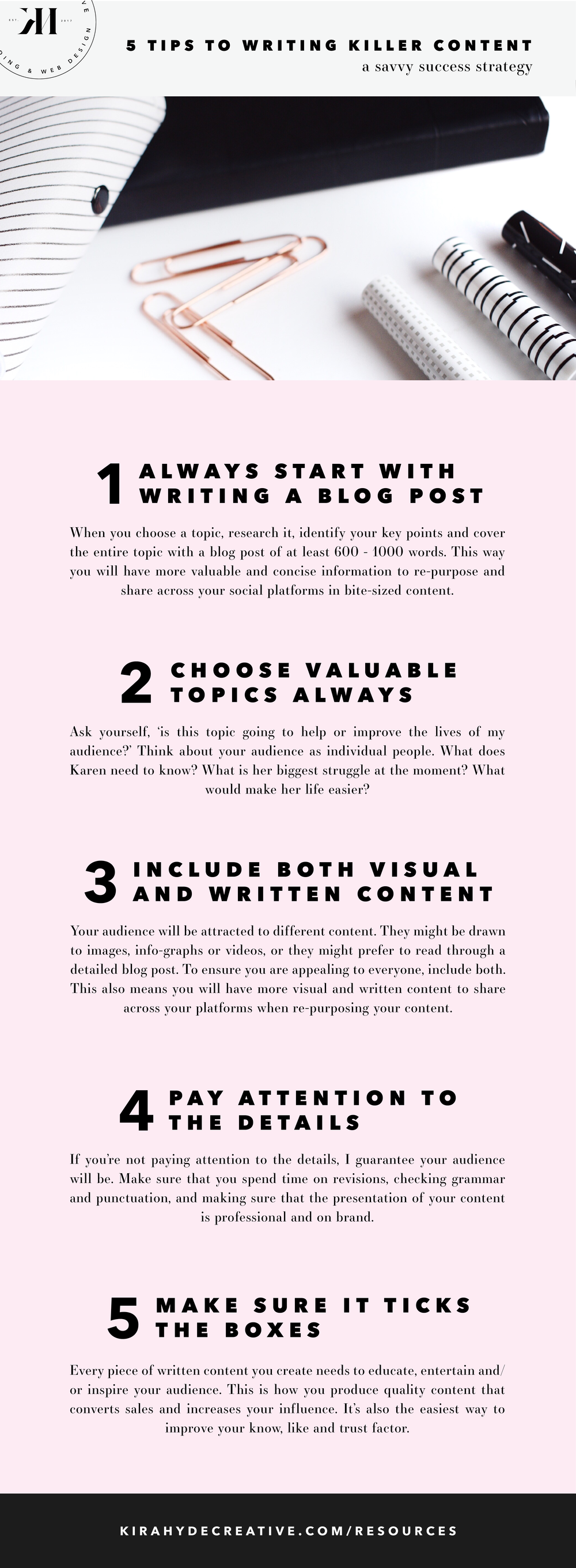 5 Tips to Writing a Killer Blog Post - Kira Hyde Creative