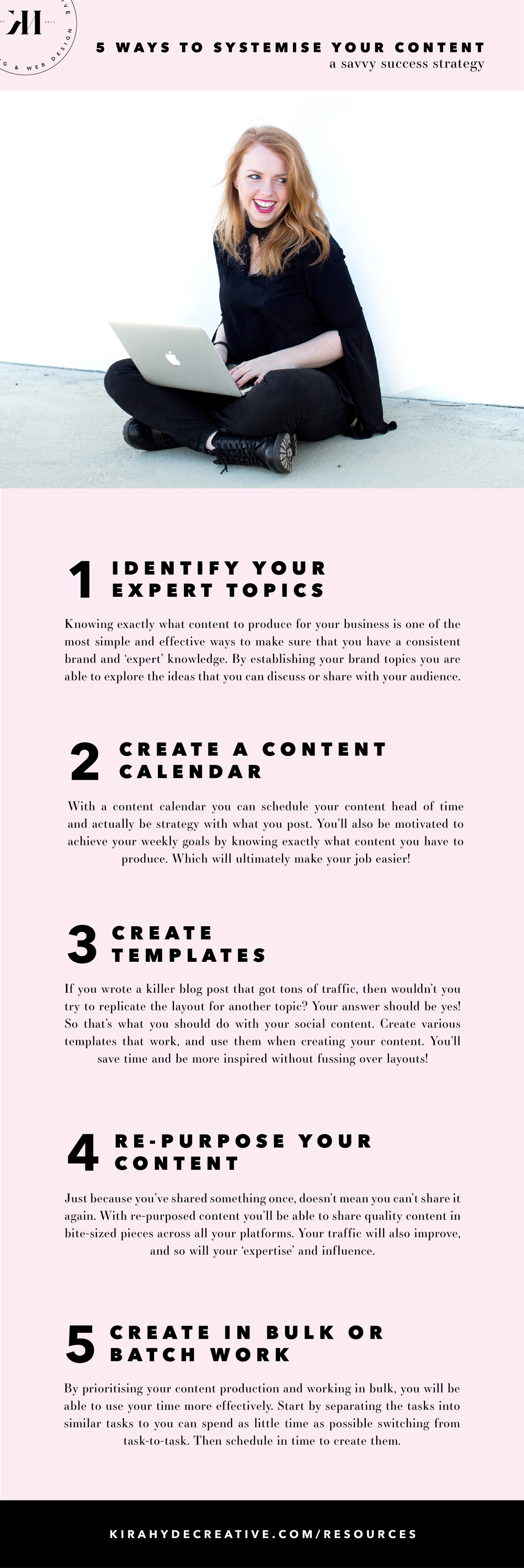 5 Ways to Systemise Your Content Creation - Kira Hyde Creative
