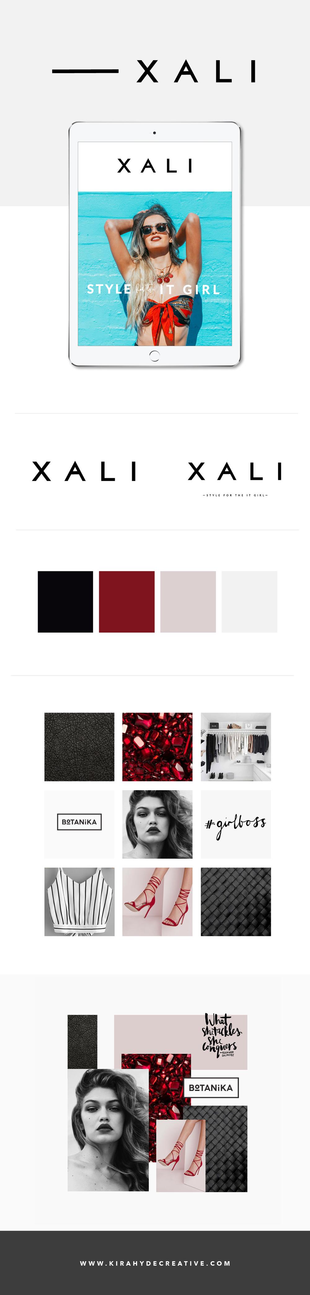 Xali - Brand Board - Kira Hyde Creative