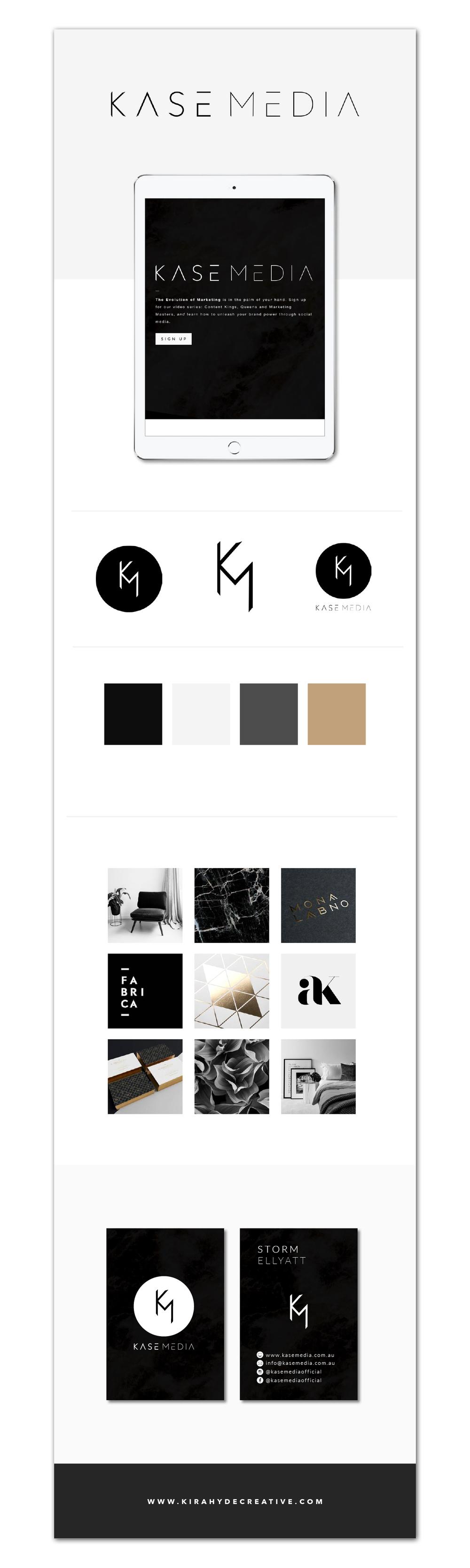 Kase Media Brand Board - Kira Hyde Creative Portfolio