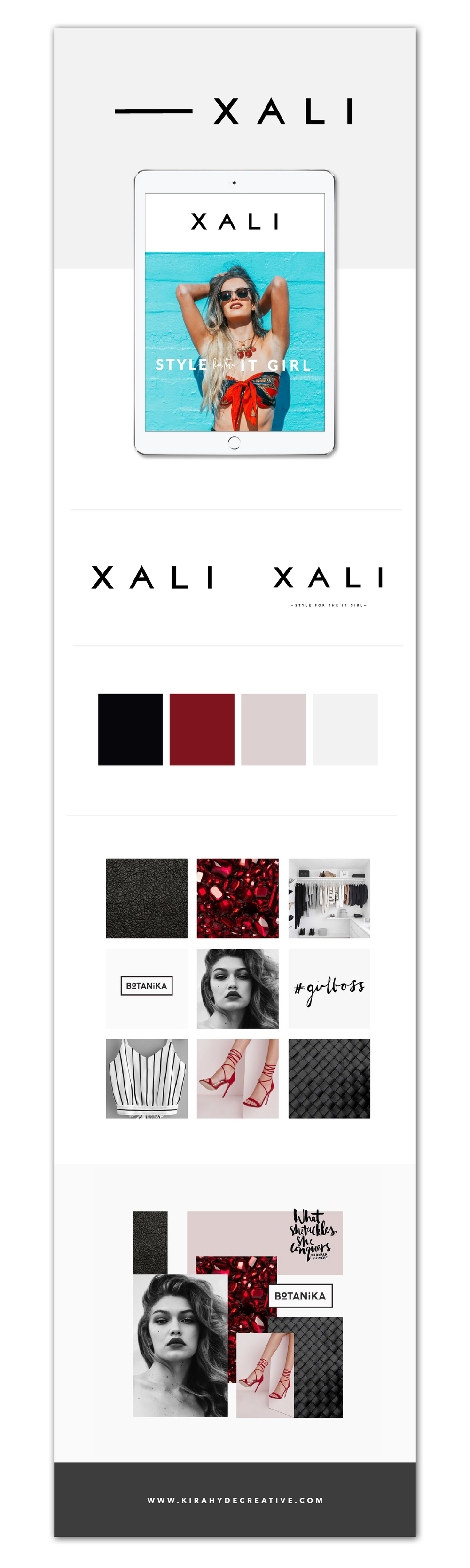 Xali Brand Board - Kira Hyde Creative Portfolio