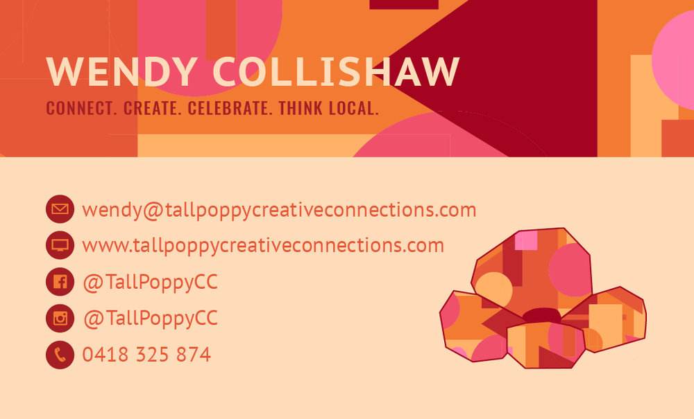 Tall Poppy Creative Connections Bendigo - Kira Hyde Creations - Business Cards