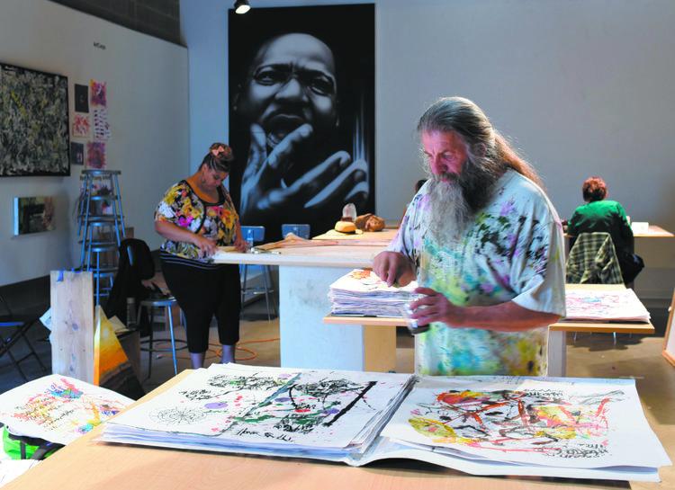 Gonzo at Reach Studio. Photo courtesy of RedLine