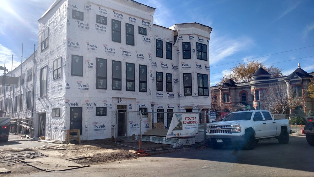 The Stout24 row home project currently under construction in the historic Curtis Park neighborhood. The complex will be open for income-qualified residents starting in 2018. Credit: Sarah Ford