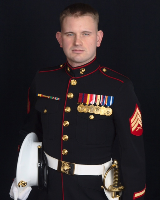 A photo of Silver in his uniform while serving in the Marine Corps. He served four years, from 2007 until 2010, and was promoted to Sergeant after his second tour in the Middle East.Credit: Brennan Silver
