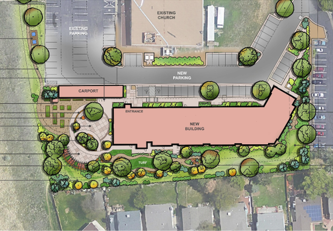 Plans released by the Second Chance Center for its PATH project, which will share property with Elevagtion Christian Church.
