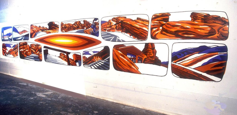 Andrew Reid's Red Rocks mural which was rejected by Denver's Commission on Cultural Affairs. Reid says it seemed like one committee member controlled the decisions of which works were accepted and which were not. (Credit: Andrew Reid)