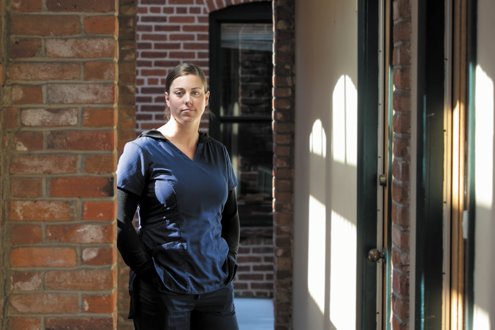 Brittany Kitchens is using her own experiences with addiction to help patients at Urban Peaks Rehab. The innovative new clinic, which employs people who are recovering from addictions, launched in October 2018. (Credit: Giles Classen)