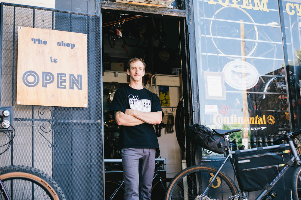 Ryan Santoski, owner of Totem Cyclery, took over running the shop after it was set to close down in 2015. (Credit: Lucas winzenburg)