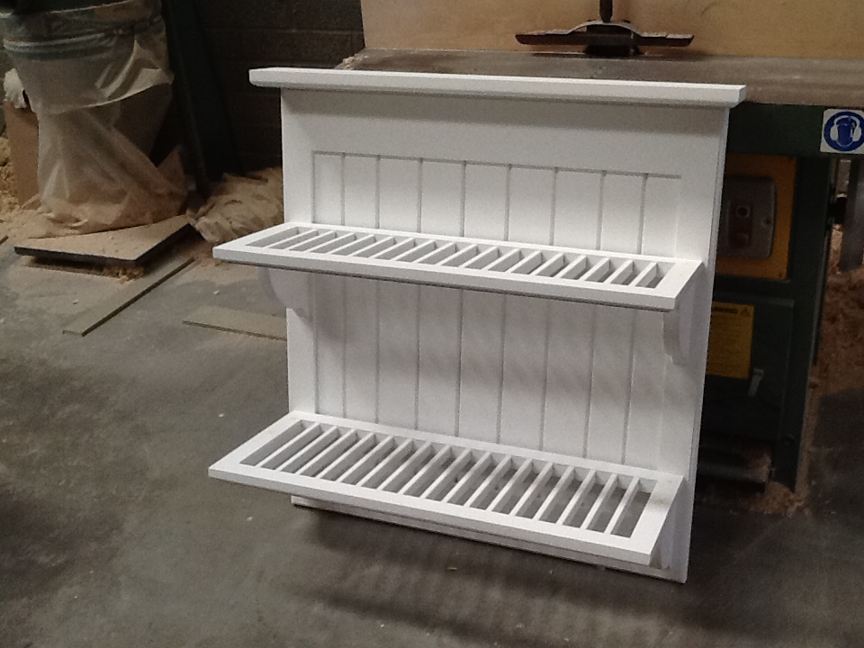 Country style plate rack primed and ready to go.