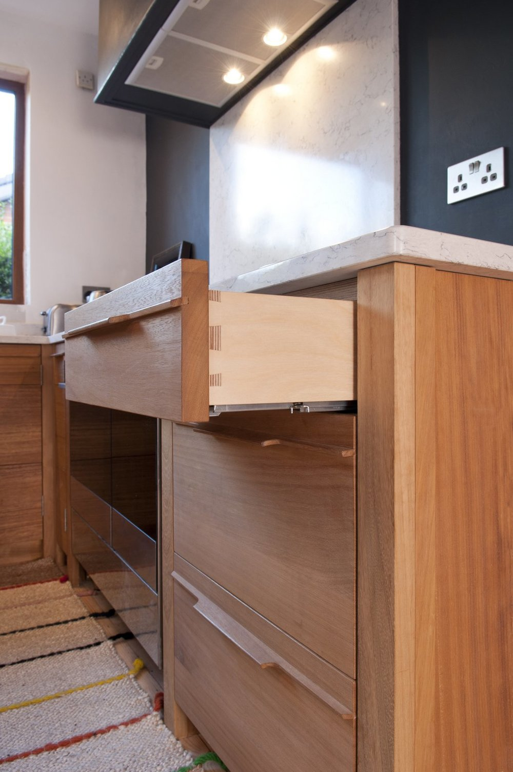 kitchen drawer and joint bespoke handcrafted kitchen ireland