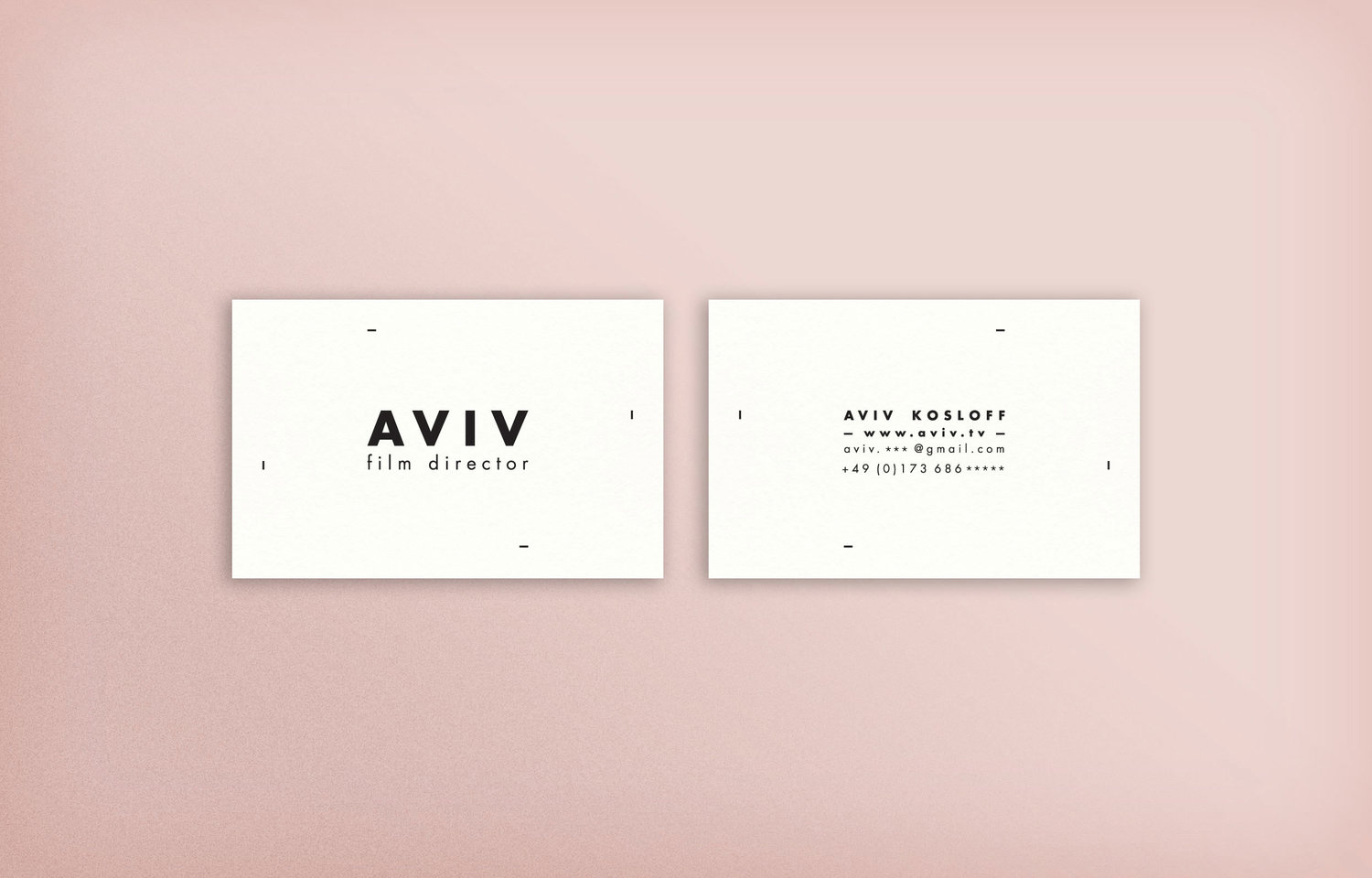 claradelorenzi.com—Aviv Kosloff Business Cards