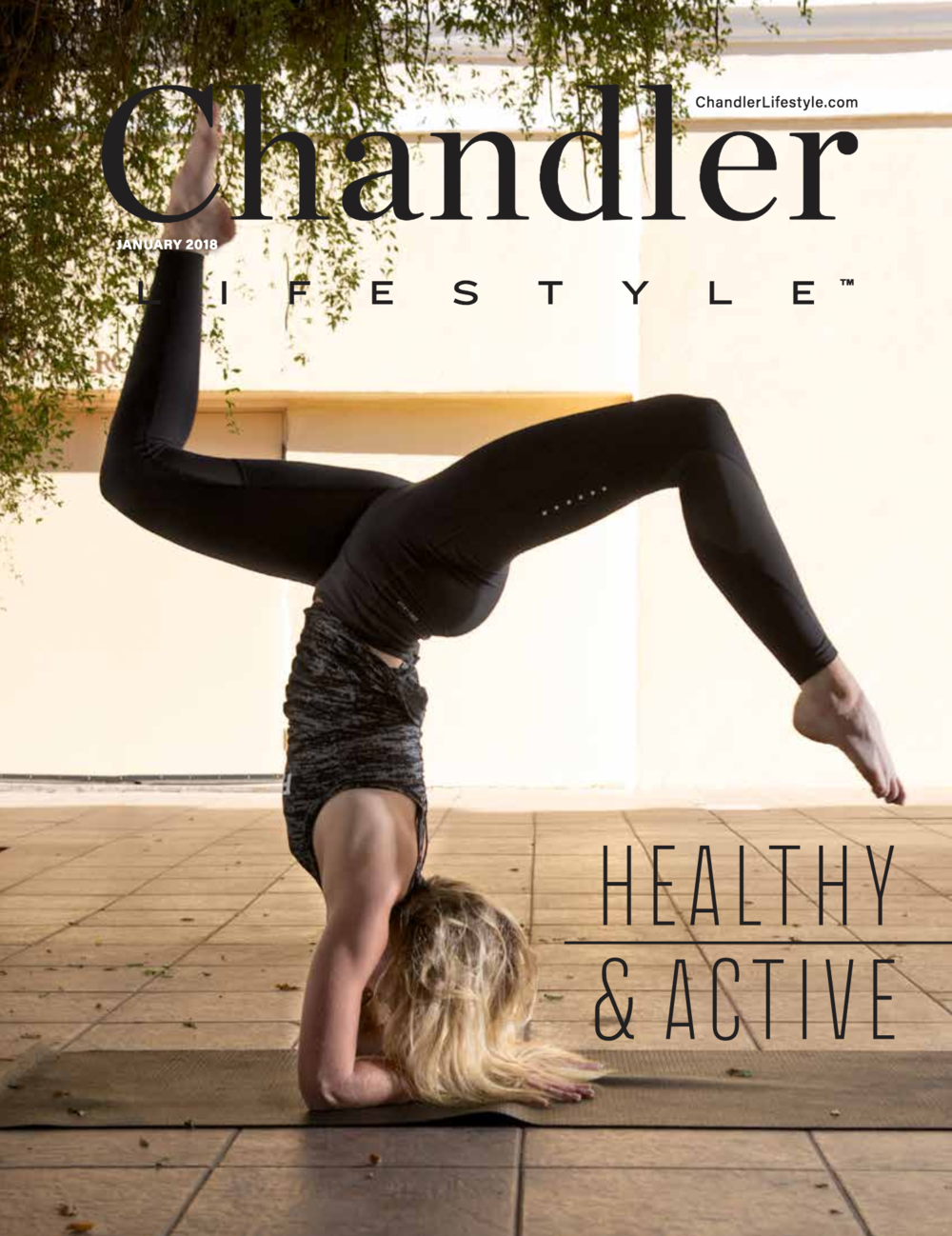 Guess who's on the cover of @chandlerlifestyle !!
