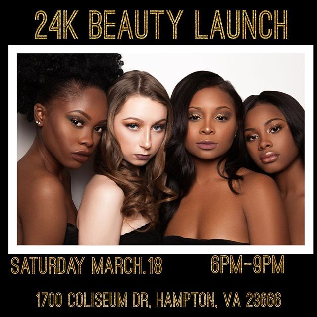 Join Us And Reveal Your Inner Beauty with 24K Cosmetics Saturday, March 18, 2017, 6-9PM.  For Professional Makeup Artist, Makeup Demonstration And Much More.  Enjoy Light Refreshments and Door Prizes.  Free Admission Tickets Are Available On Eventbrite.  24K Cosmetics Products Are Available To Purchase On Site.  See You There!  To RSVP Check Out the Link Listed In My Bio @24k_beauty_