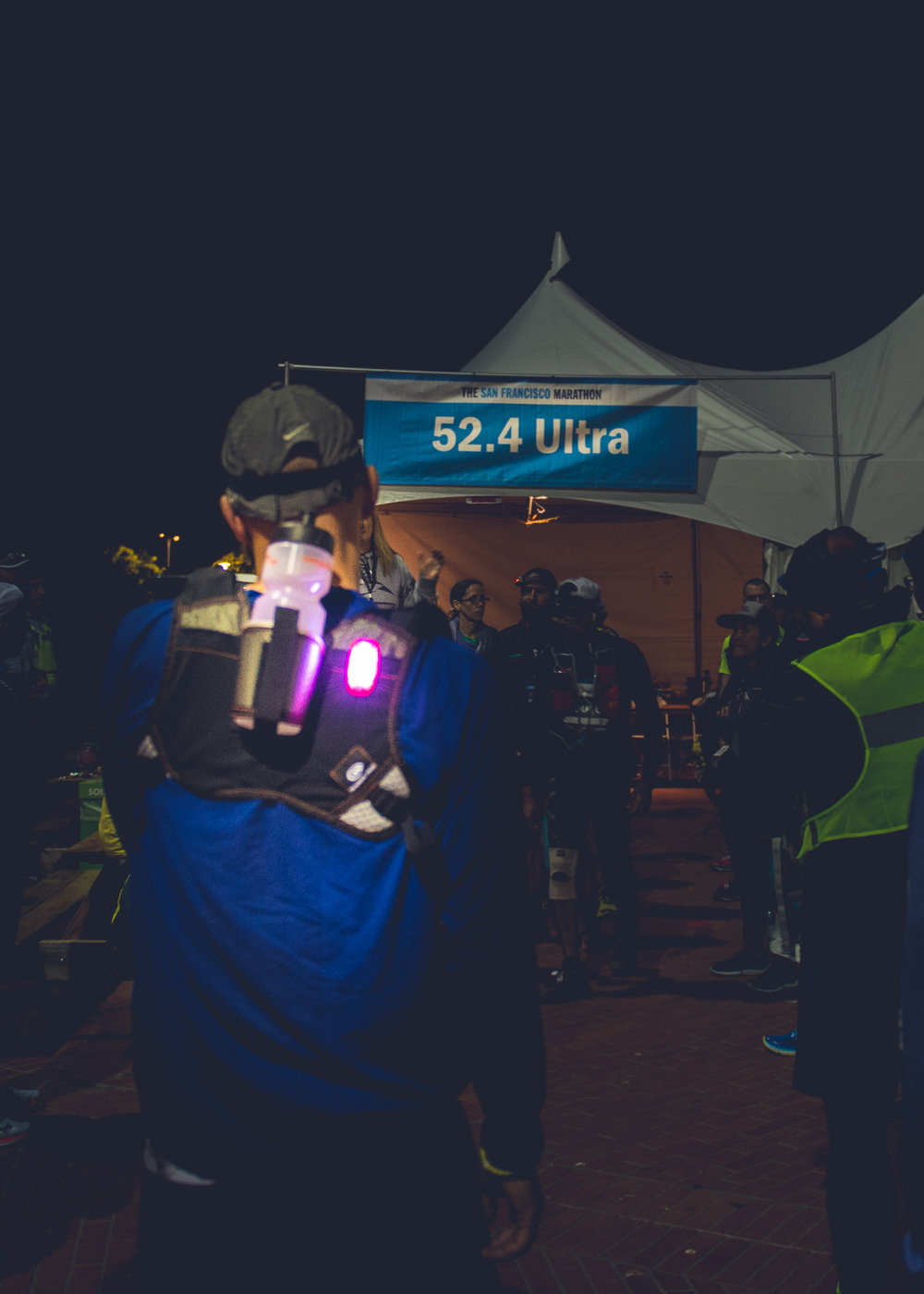 Checking in at midnight for the SF Ultramarathon!