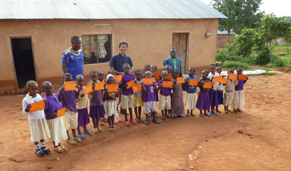 MIBOS nursery school in the Mlole area with a visitor from Japan.