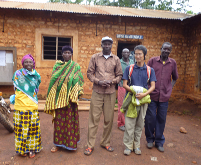 MIBOS visiting farmers in the village of Kalenge in the Uvinza district of Kigoma province.